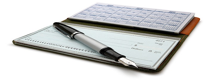 checkbook with inkpen
